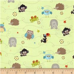 Riley Blake Life In The Jungle Flannel Mini Animals