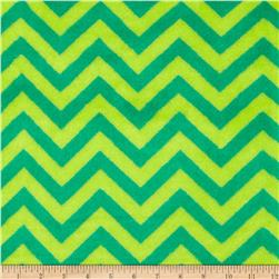 Fleece Chevron Jade/Emerald