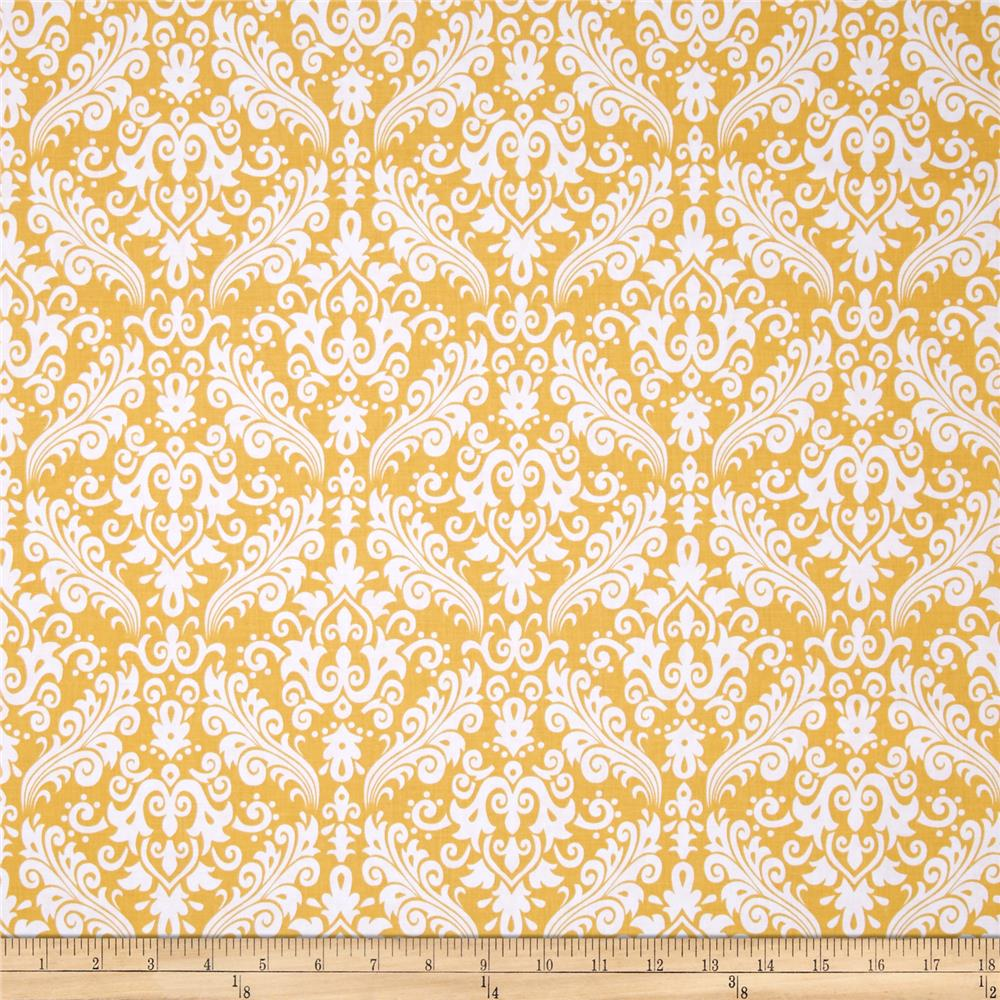 Riley Blake Basics Medium Damask Mustard