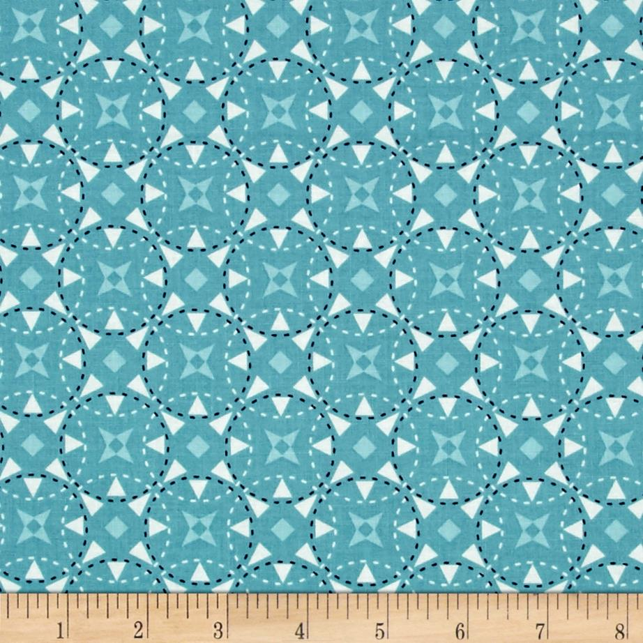 Riley blake juxta posey star aqua discount designer for Star design fabric