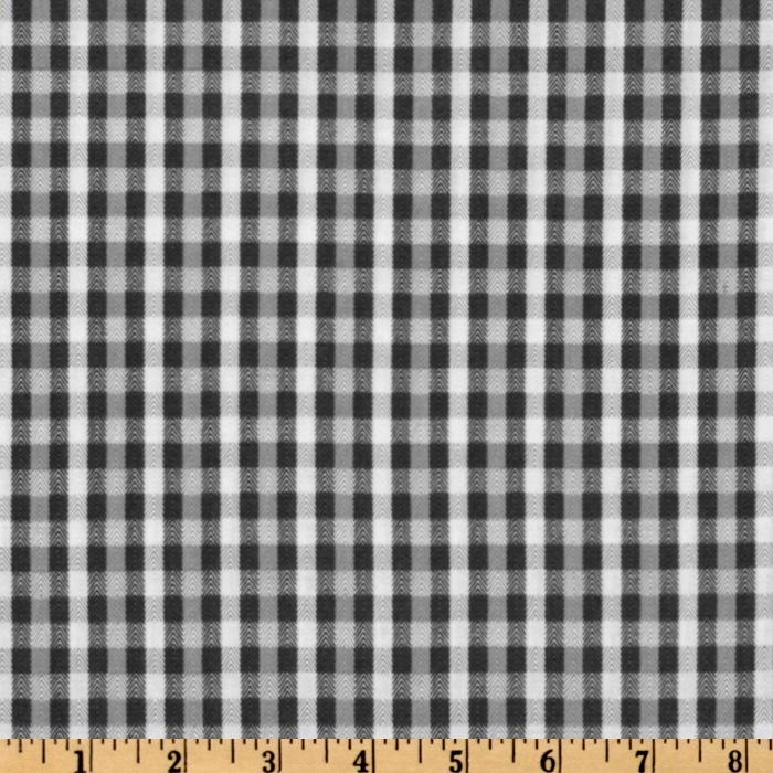 Baby Business Herringbone Plaid Dark Grey