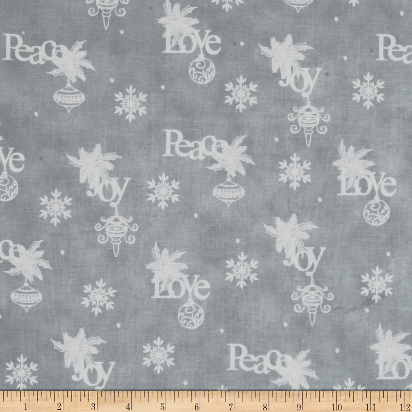 Christmas Wishes Wrapping Paper Mist Fabric By The Yard