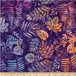 Island Batik Desert Rose Fern Purple/Rust