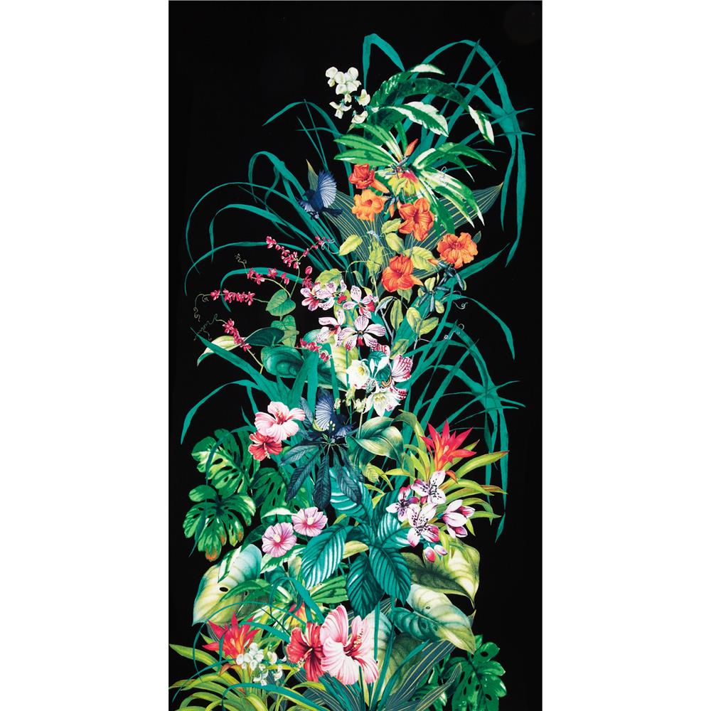 "Michael Miller Fantasy Island 24"" Panel Black"