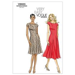 Vogue Misses'/Misses' Petite Dress Pattern V8665 Size BB0