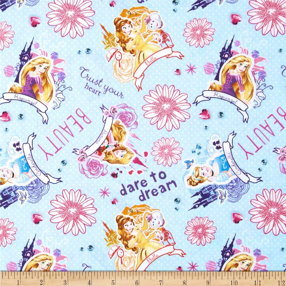 Disney Princess I am a Princess Allover Light Blue