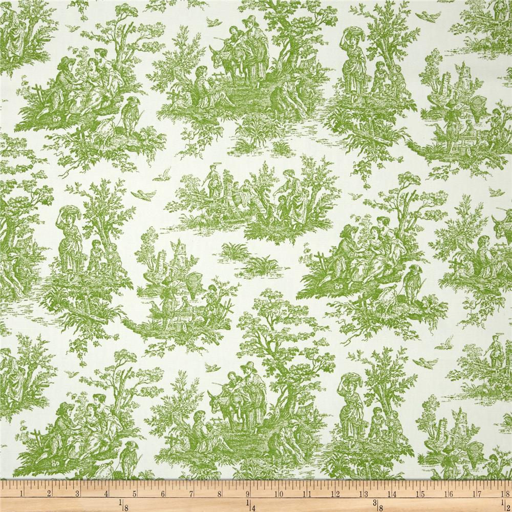 Premier Prints Jamestown Toile Kelly Green Discount