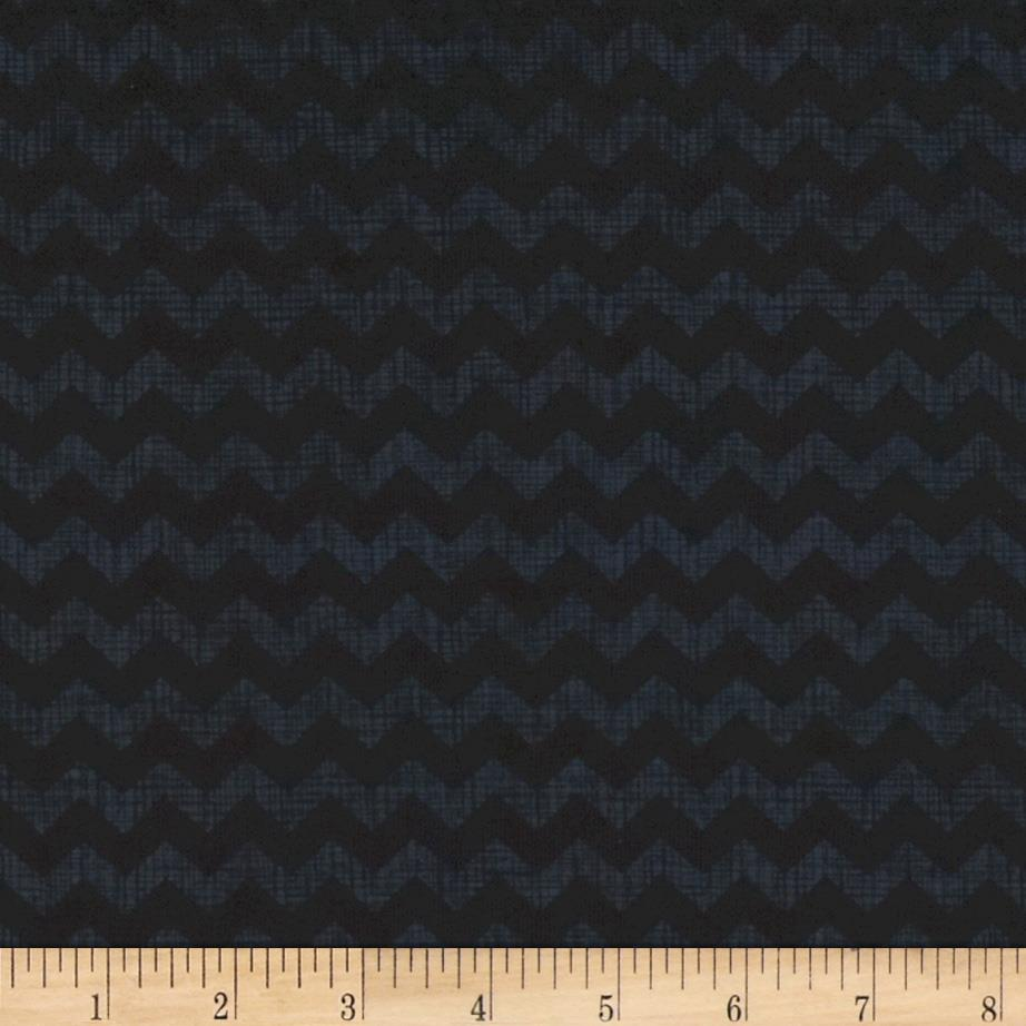 Timeless Treasures Ziggy Small Chevron Black