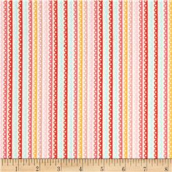 Riley Blake Girl Crazy Flannel Stripe Pink