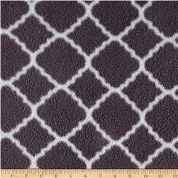 Fleece Prints Quatrefoil Gray