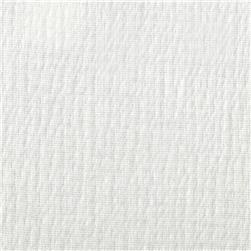 Smocked Cotton Poly Jersey Knit White Fabric