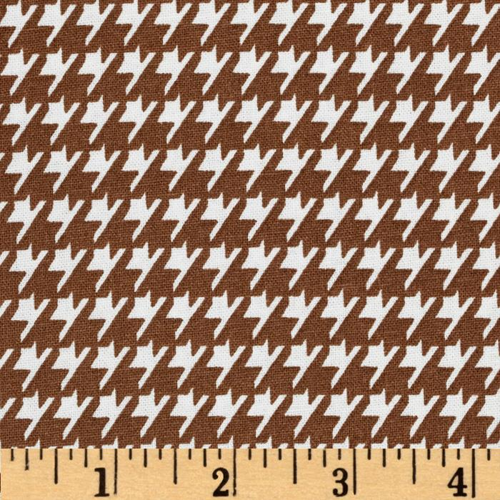 Dots and More Houndstooth Brown/White