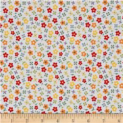 Penny Rose Gingham Girls Calico White