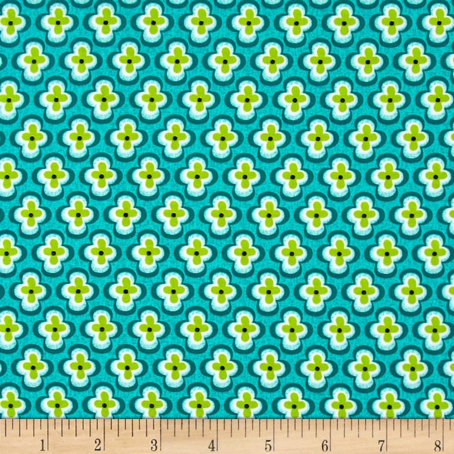 My Lil Lady Quatral Foil Floral Green