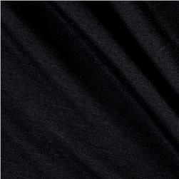 Jersey Knit Solid Jet Black