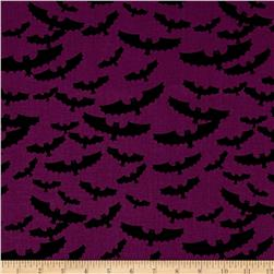 Riley Blake Lost & Found Halloween Bats Purple