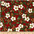 Holiday Elegance Berry Floral Red