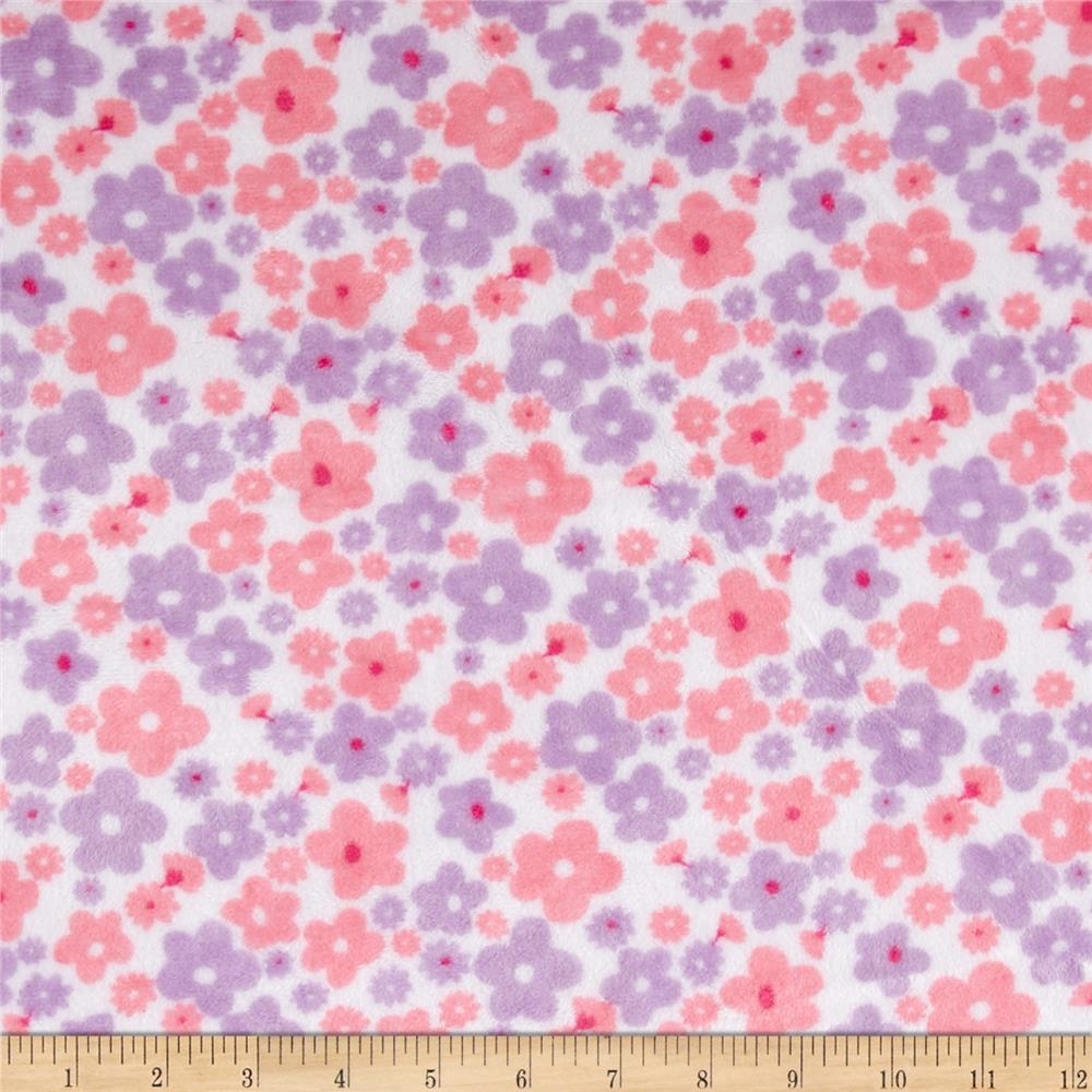 Shannon Minky Cuddle Classic Prints Sweet Posy Lilac