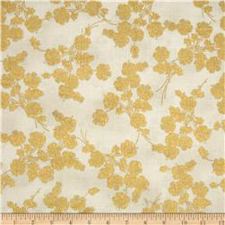 Berries and Blooms Metallic Foil Floral Cream/Gold