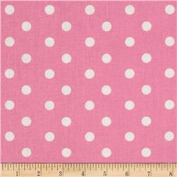 Baby Talk Aspirin Dot Bright Pink/White Fabric