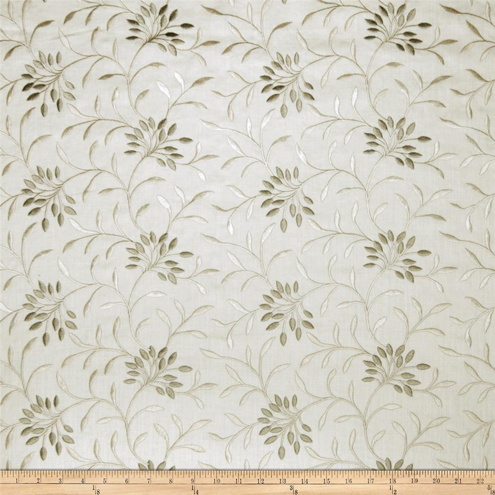 Fabricut Elmley Embroidered Linen Blend Natural