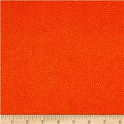 Timeless Treasures Flannel Spin Dot Tangerine