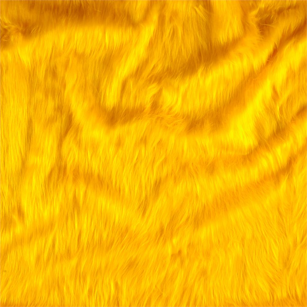 Faux Fur Monkey Yellow