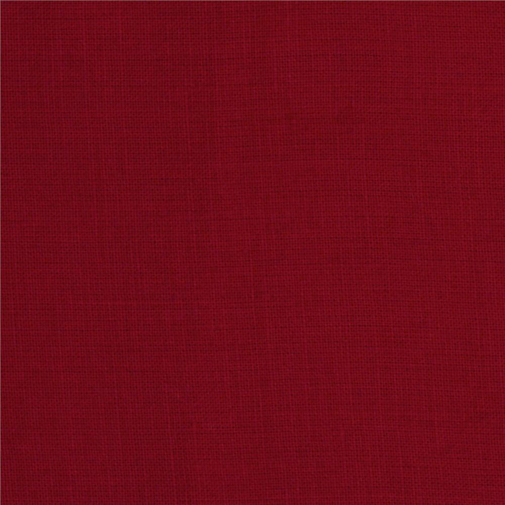 Medium Weight Linen Red