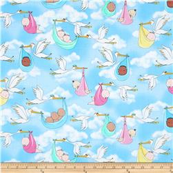 Kanvas Cry Baby Oh Baby Baby Blue Fabric
