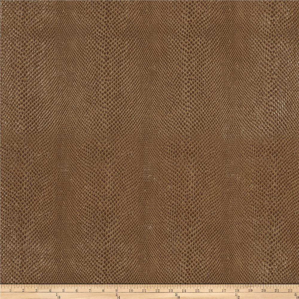 Fabricut Salem Faux Leather Pecan