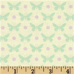 Heather Bailey Lottie Da Butterfly Dot Cream Fabric