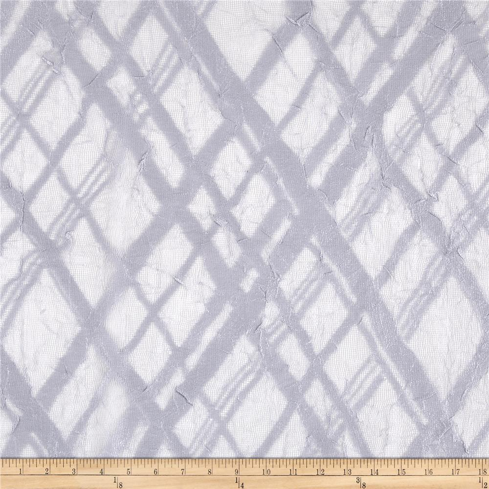 Lace Ikat Gray  Fabric