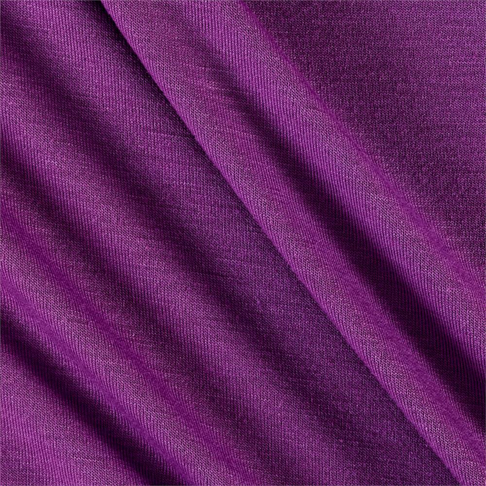 Polyester Jersey Knit Solid Plum Fabric By The Yard