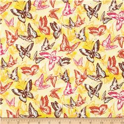 Fabric Freedom Butterfly Meadow Butterflies Yellow