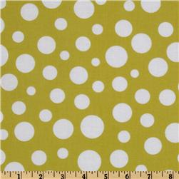 Michael Miller Lolli Dot Leaf Green Fabric