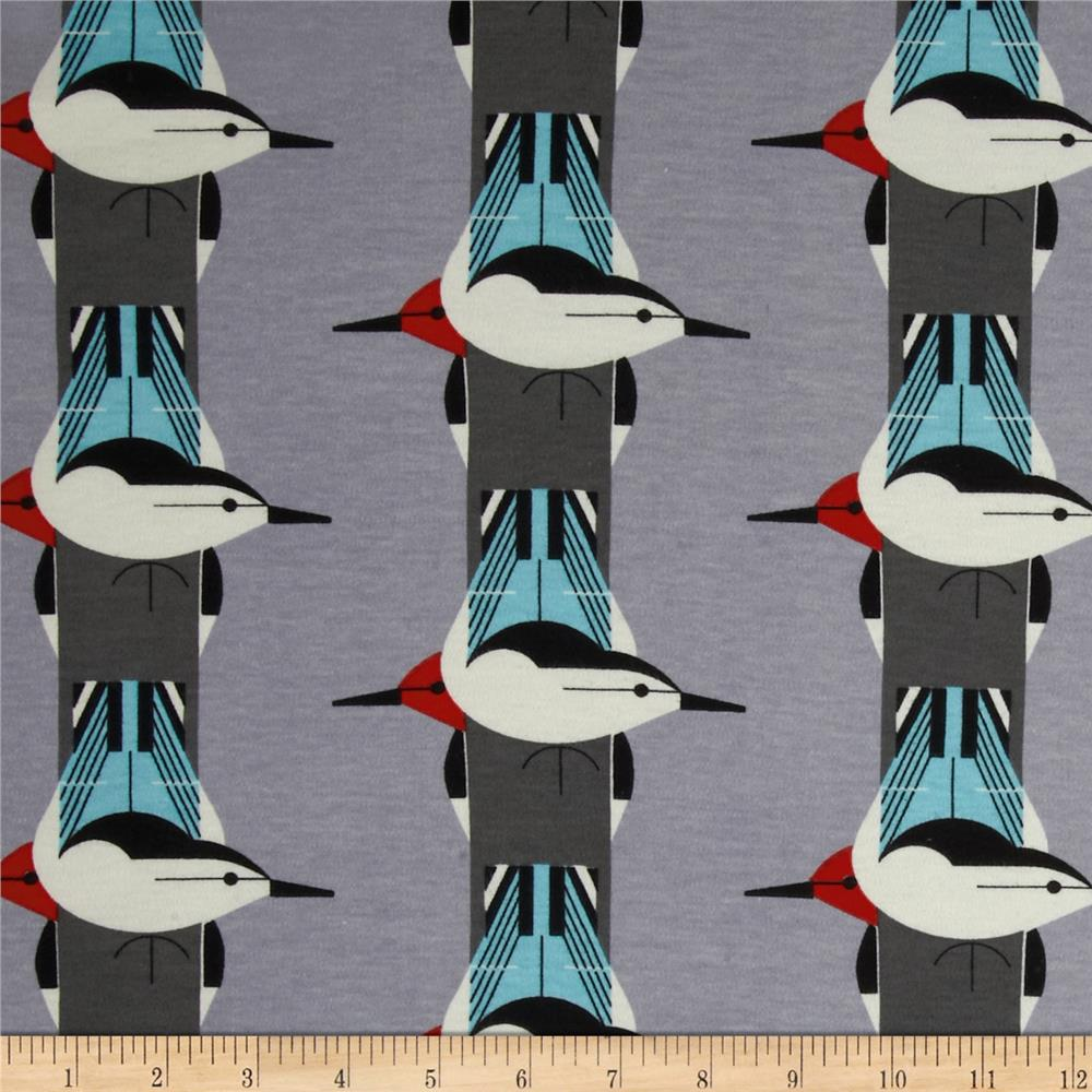 Birch Organic Interlock Knit Charley Harper Upside Downside