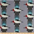 Birch Organic Interlock Knit Charley Harper Upside Downside Grey