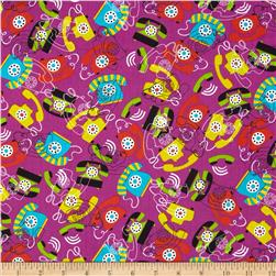 Kanvas Jet Set Call Me Purple Fabric