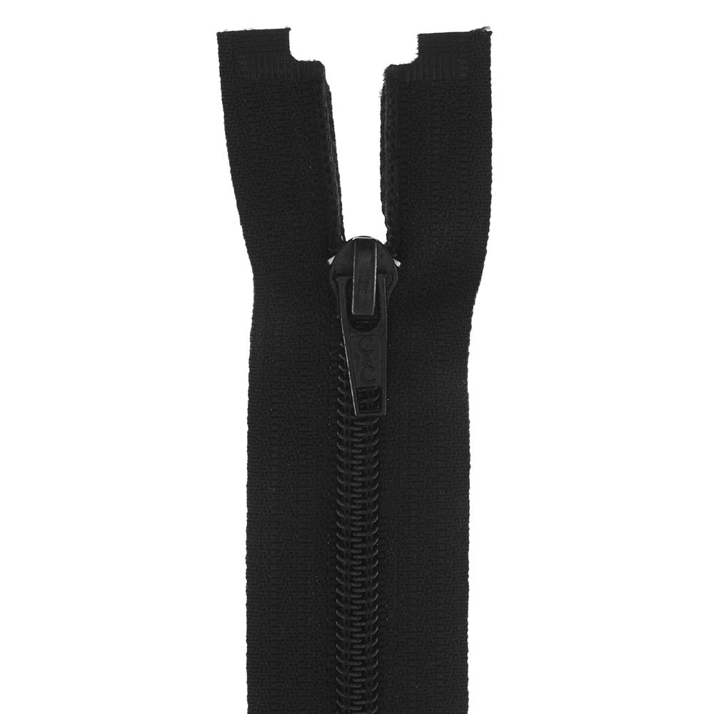 "Coats & Clark Coil Separating Zipper 24"" Black"
