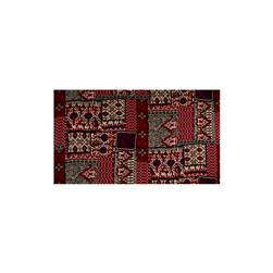 Crepe Georgette Ikat Diamond Leaf Burgundy/Purple