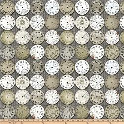 Tim Holtz Eclectic Elements Timepieces Taupe