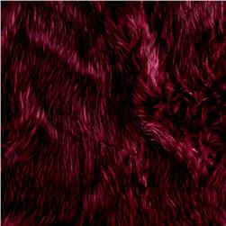 Shannon Norwegian Faux Fox Fur Raspberry