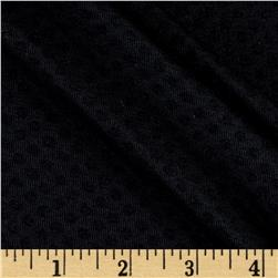 Poly Rayon Spandex Jersey Knit Tone on Tone Black Dots
