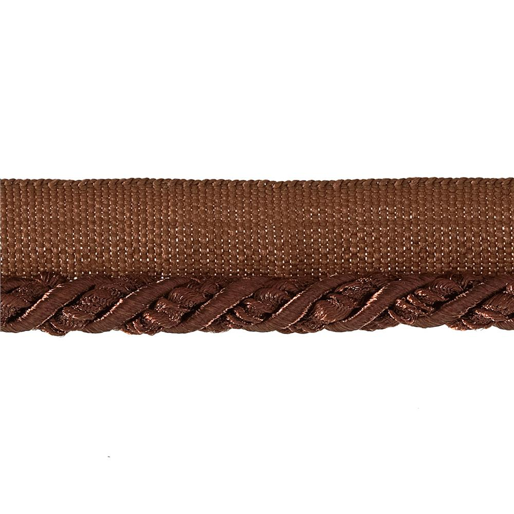 "Mariel 1/4"" Twisted Cord with Lip Trim Chocolate"