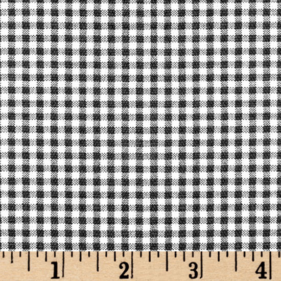 Small Check Black/Ivory Fabric