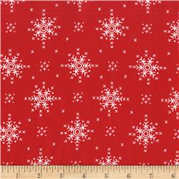 Michael Miller Woodland Winter Stitch Snowflake Santa