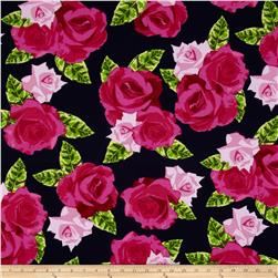 Kanvas English Rosey Rose Bouquet Navy