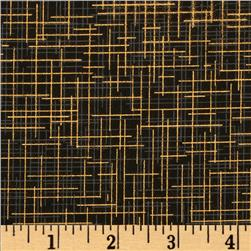 Quilter's Linen Metallic Black