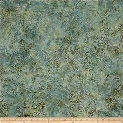 Malam Batiks Floral Bloom Pale Jade