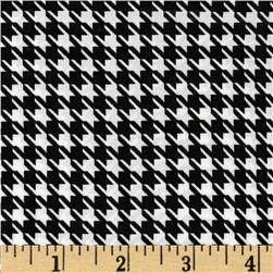 Julianna Stretch Chiffon Houndstooth Black Fabric